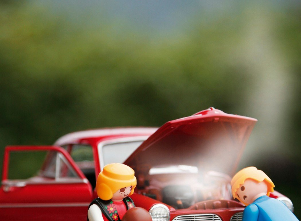 toy people with car