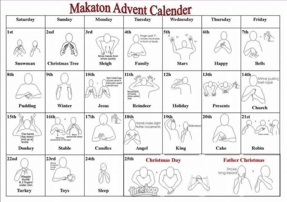 Makaton Advent Calander